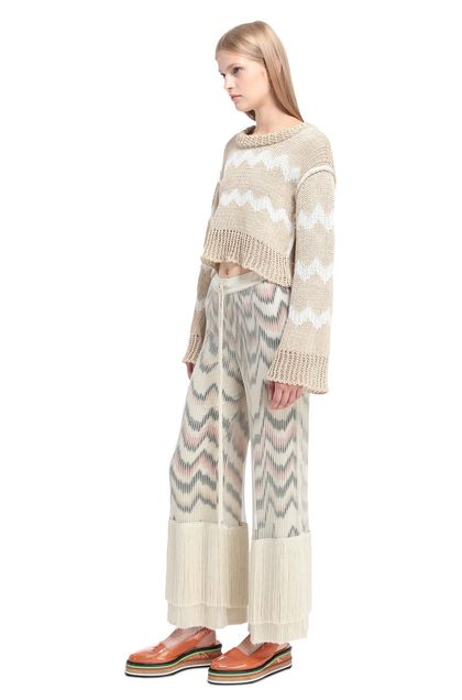 MISSONI 3/4-length short Beige Woman - Back