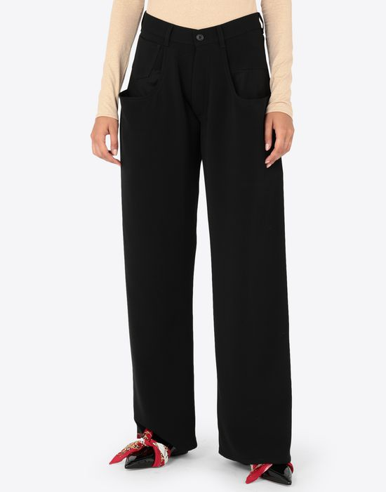 MAISON MARGIELA Trousers with tonal stitching Casual pants [*** pickupInStoreShipping_info ***] r