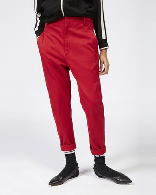 ISABEL MARANT ÉTOILE TROUSER Woman DYSART cotton trousers r