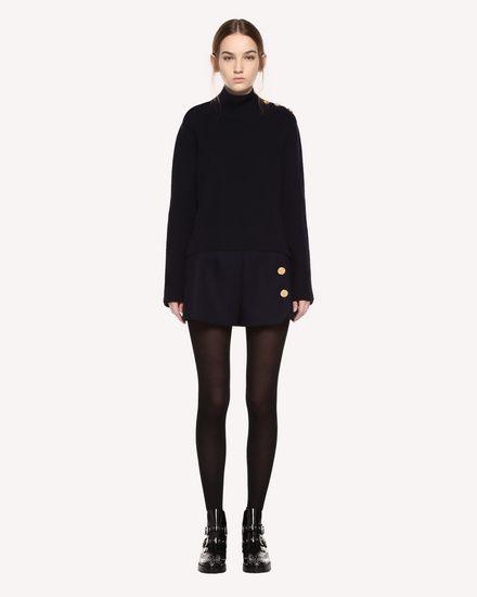 Naval Wool Shorts