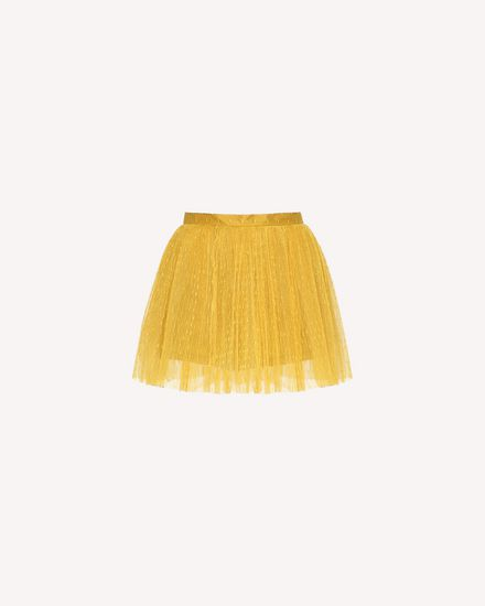 Point d'Esprit tulle pleated shorts