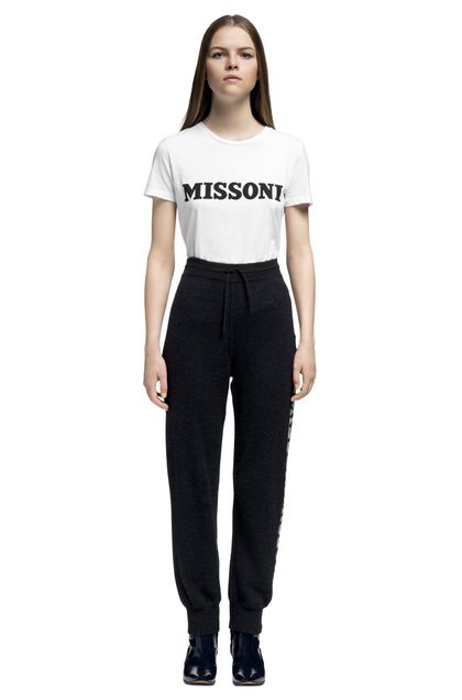 MISSONI Pants Dark blue Woman - Back