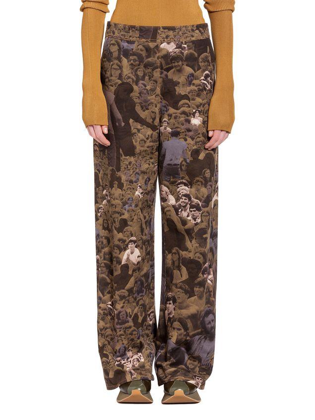 Marni Pantaloni in drill di cotone stampa Star Donna - 1 ... 057c6c31174