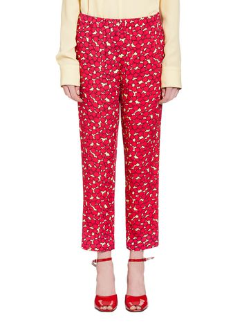 Marni Pants in viscose sablé with Dream print Woman