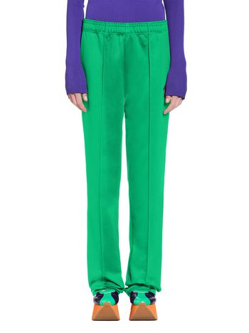 Marni Pants in double techno jersey green Woman