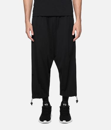 Y-3 Cropped pant Man Y-3 Drawstring 3/4 Pants r