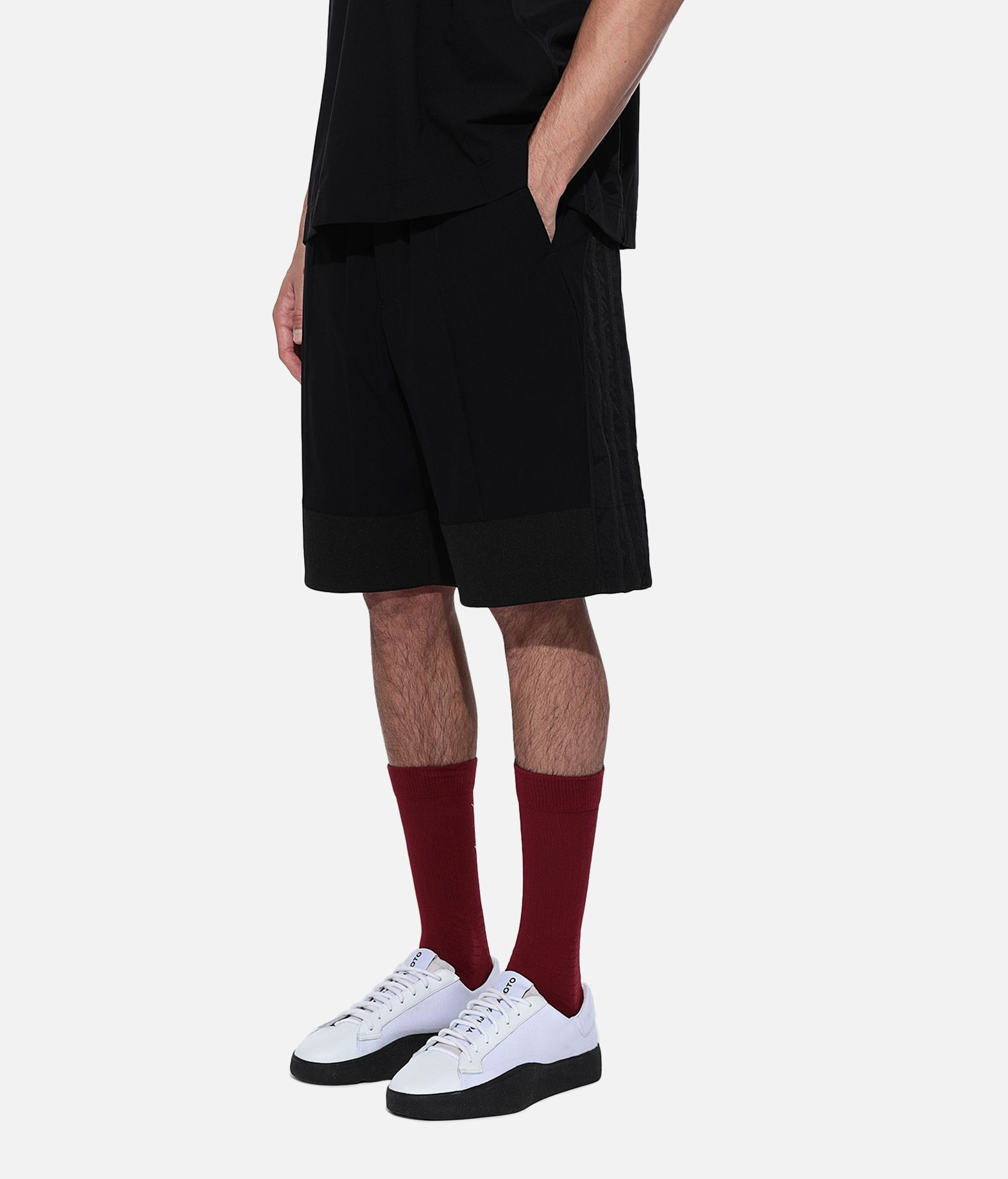 Y-3 Y-3 3-Stripes Material Mix Shorts Shorts Man e