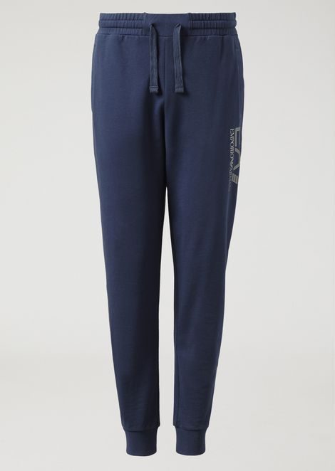 Cotton joggers with logo