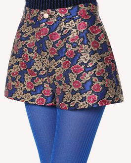 REDValentino Rose Ramage Jacquard Shorts