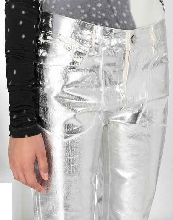 MM6 MAISON MARGIELA Silver coated denim pants Casual pants [*** pickupInStoreShipping_info ***] d