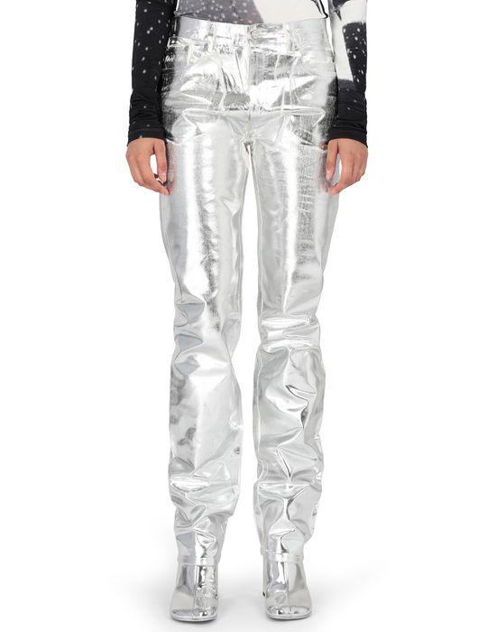 MM6 MAISON MARGIELA Silver coated denim pants Casual pants [*** pickupInStoreShipping_info ***] f