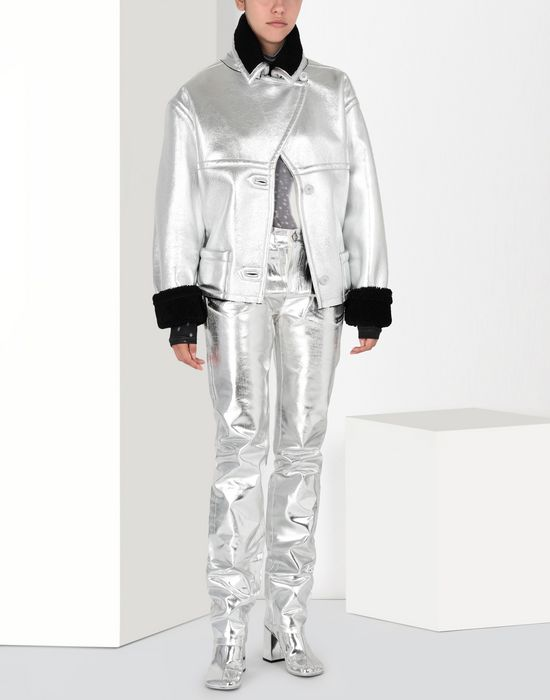 MM6 MAISON MARGIELA Silver coated denim pants Casual pants [*** pickupInStoreShipping_info ***] r