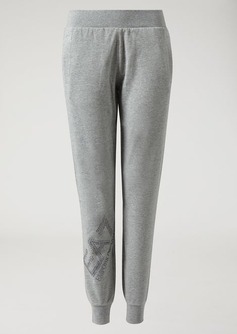 French terry joggers with crystal logo