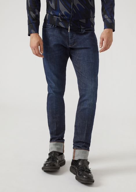 J02 slim-fit classic denim jeans with selvedge
