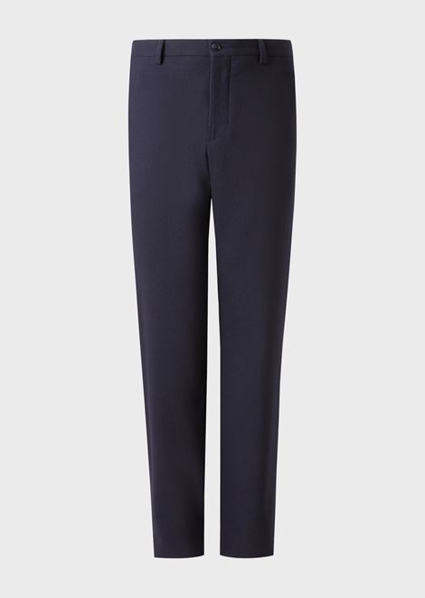 Classic stretch virgin wool trousers