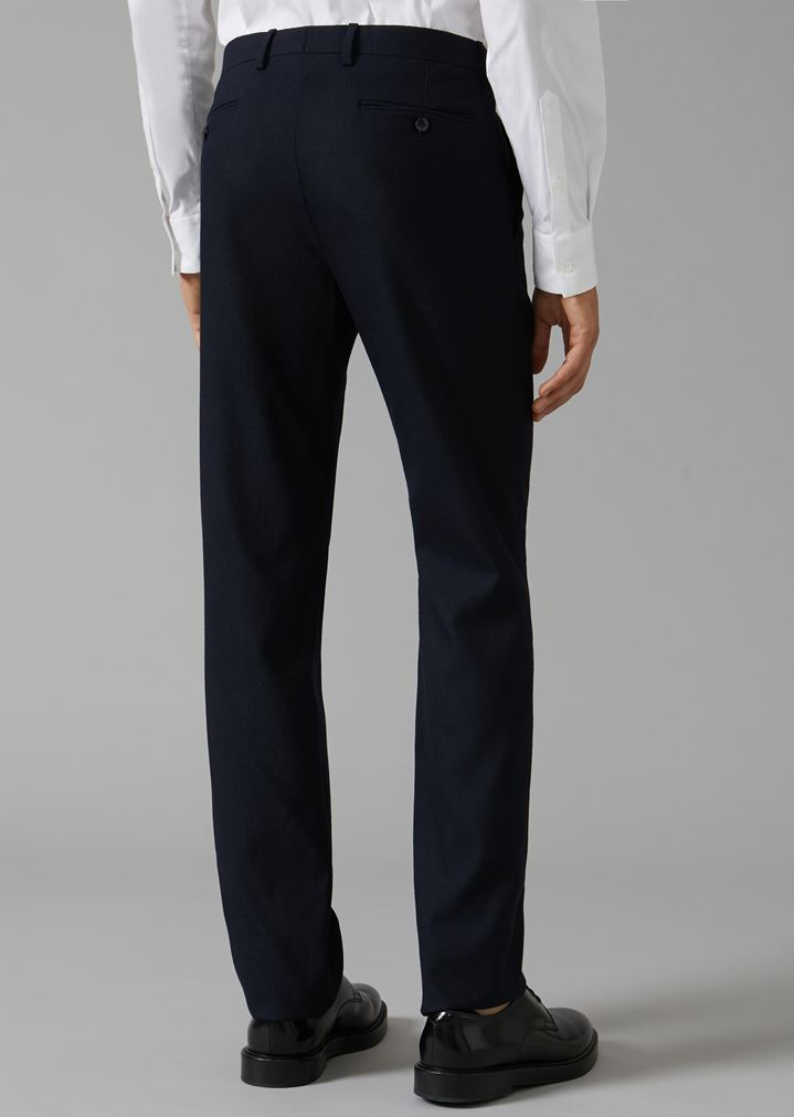 GIORGIO ARMANI Classic stretch virgin wool trousers Classic Pants Man e