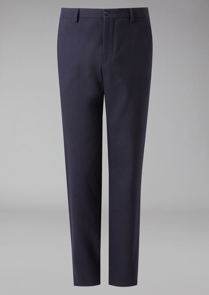 GIORGIO ARMANI Classic stretch virgin wool trousers Classic Pants Man r