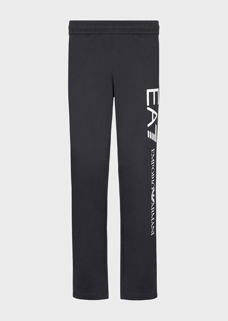 Cotton baby French terry joggers with maxi logo
