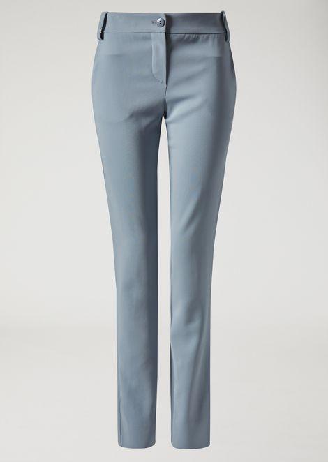 Stretch fabric cigarette trousers