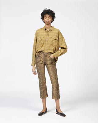 APOLO python print trousers