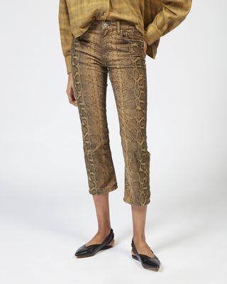 ISABEL MARANT ÉTOILE PANT Woman APOLO python print trousers r