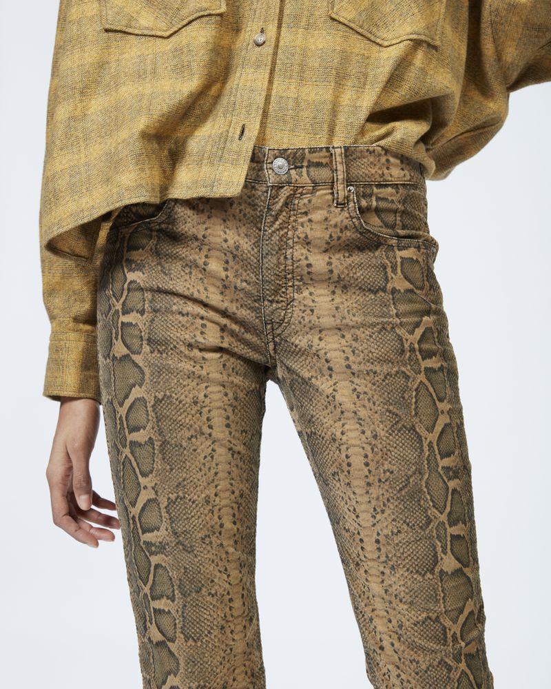 APOLO python print trousers ISABEL MARANT ÉTOILE