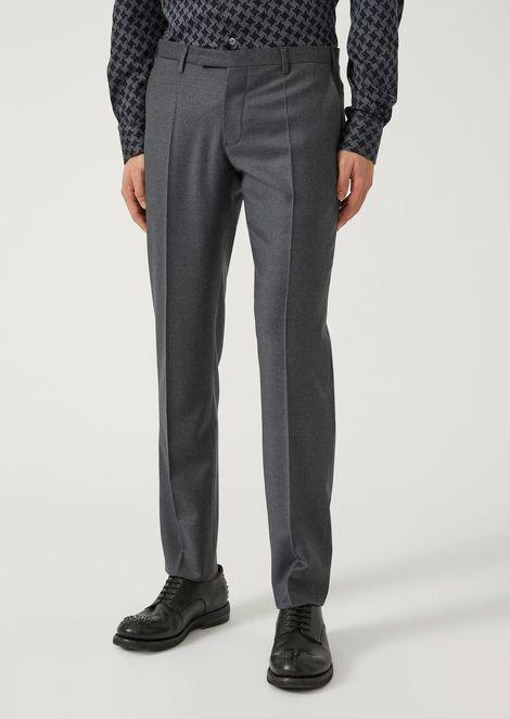 Stretch virgin wool trousers