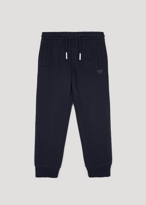 Fleece joggers with camouflage pocket
