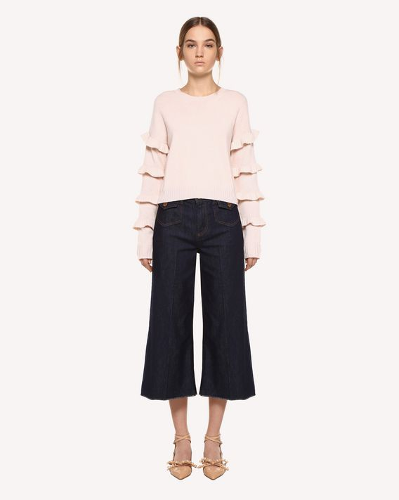 REDValentino Cropped denim trousers