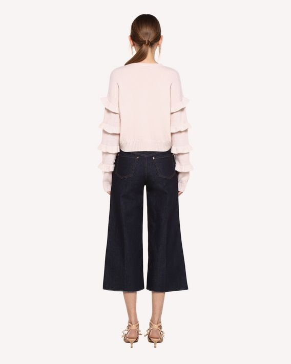 REDValentino Cropped denim pants