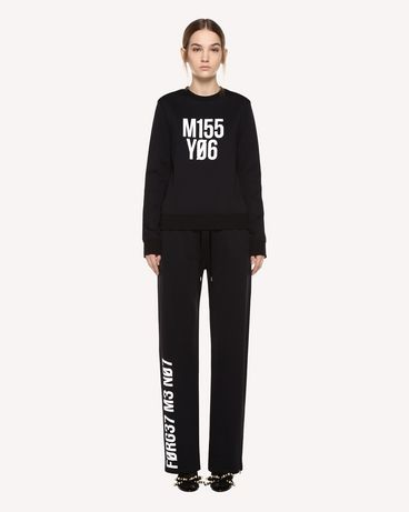 "REDValentino Jersey pants with ""Forget Me Not"" print"