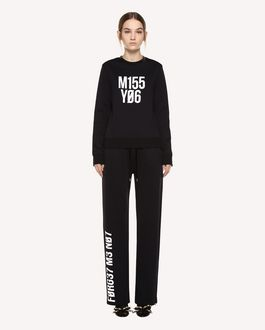 "REDValentino Jersey trousers with ""Forget Me Not"" print"