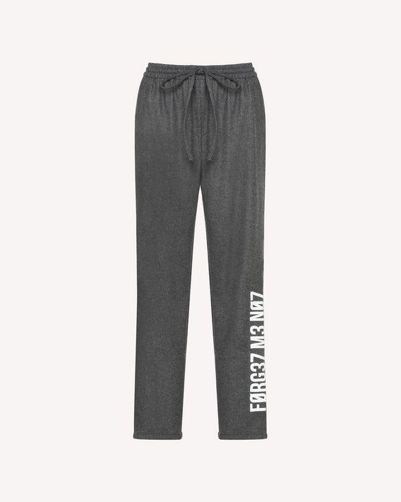 REDValentino Pantalon fluide en flanelle stretch avec imprimé «Forget me Not»