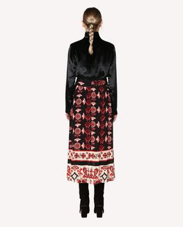 REDValentino Silk skirt with Snow Flower Ramage print