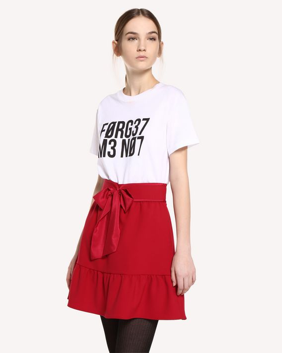 REDValentino Cady Tech skirt with belt detail
