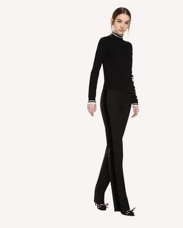 REDValentino Wool Gabardine and Velvet Tuxedo Pants