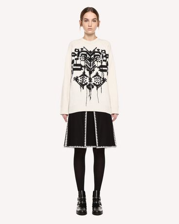 REDValentino Skirt in Wool Cloth with Ornamental Frame embroidery