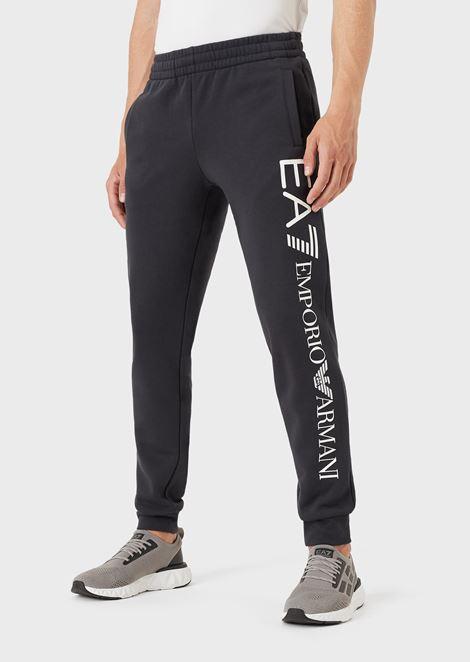 Pantaloni da jogging in cotone con maxi-logo