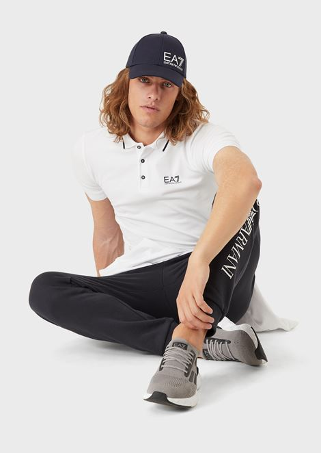 Cotton joggers with maxi logo