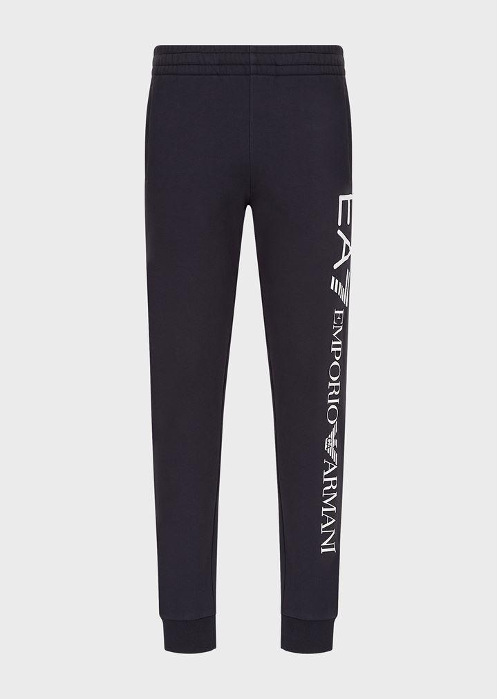 Pantalones deportivos de algodón con logotipo de gran tamaño ... 79d2b5293e2b