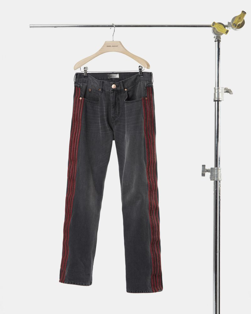 JOHNI straight cut embroidered jeans ISABEL MARANT