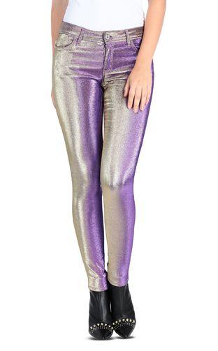 5-pocket laser-cut jeans