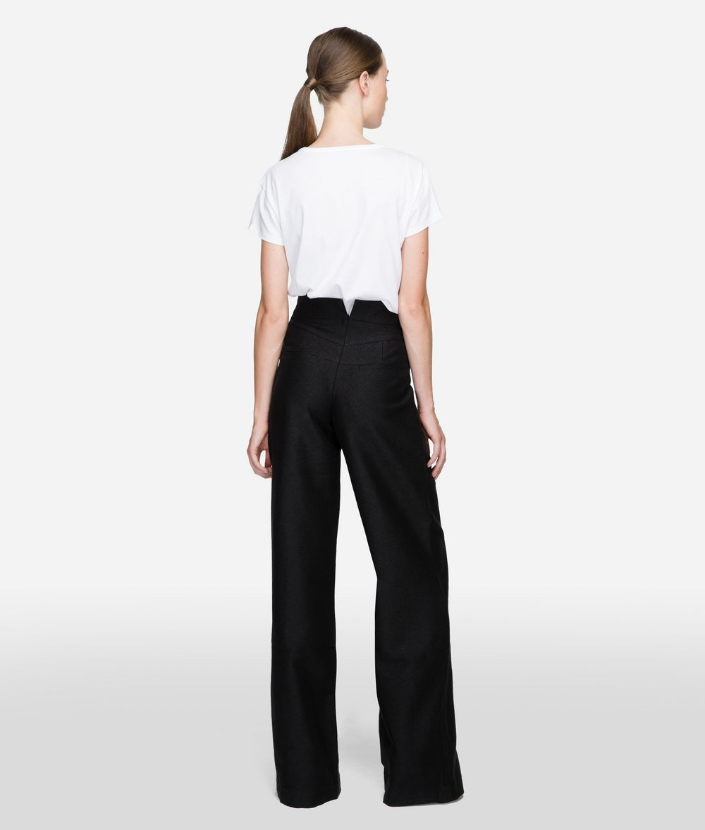 KARL LAGERFELD Cotton Twill High-Waisted Pants  Pants Woman d