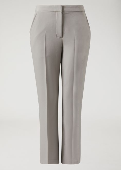 Flared double canvas trousers