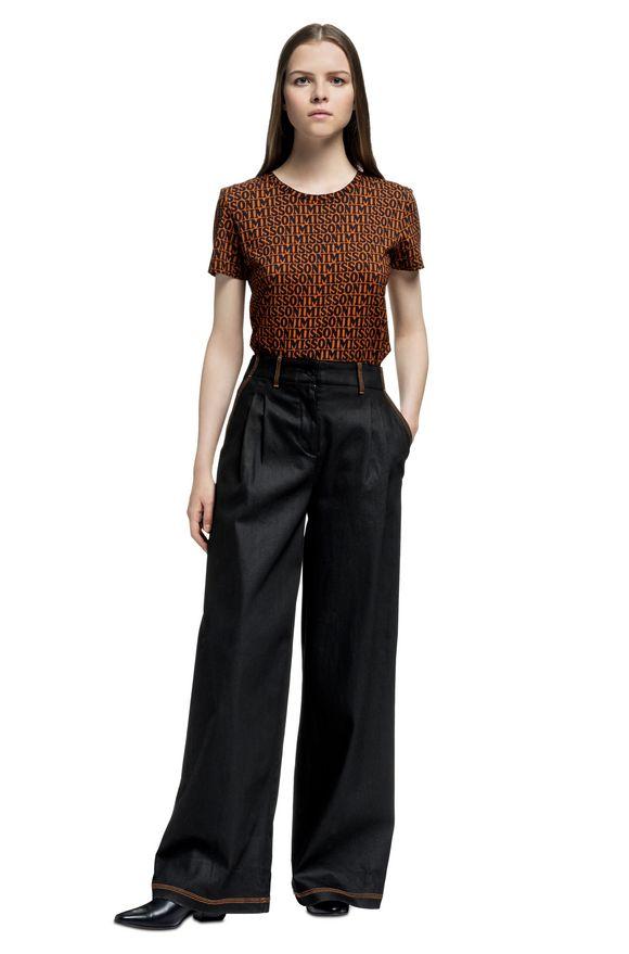 MISSONI Pantalones Mujer, Vista lateral