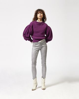 LENTON silver tone trousers