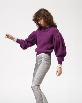 ISABEL MARANT TROUSER Woman LENTON silver tone trousers r