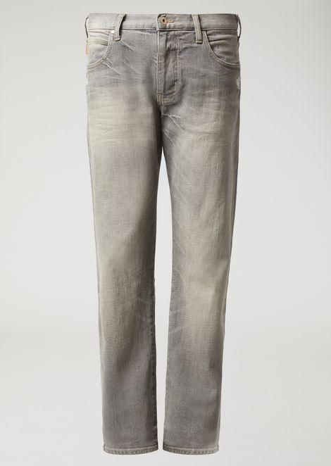 Regular-fit J45 jeans in stone-washed denim