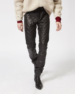 ISABEL MARANT PANT Man ELIAS leather trousers r