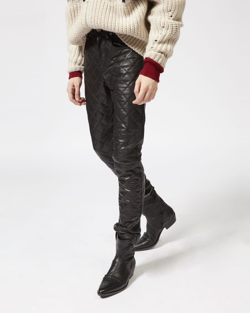 ELIAS leather trousers ISABEL MARANT